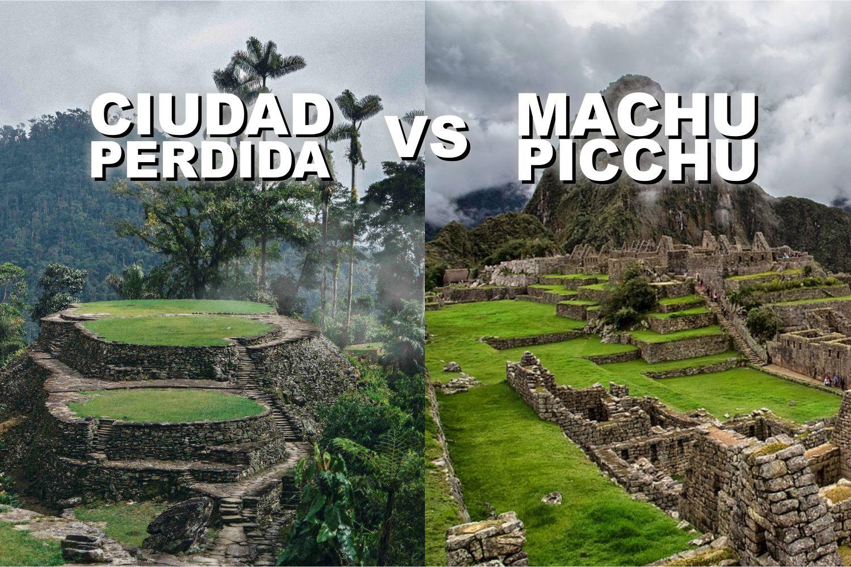 ciudad perdida y machu picchu, bellezas arqueologicas de suramerica. Colombia y Perú