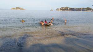 divertirse en la bahía de Santa Marta