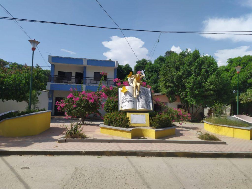 Estatua de Remedios La Bella en Aracataca
