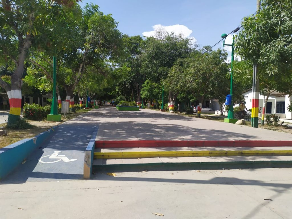 Parque de la Plaza en Aracataca. Plaza de Ayacucho