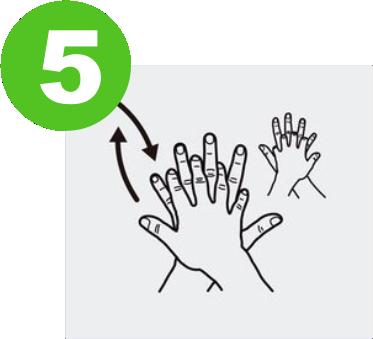 blog lavarse las manos para prevenir el covid-19 expotur. Frota el dorso de la mano derecha contra la palma de la mano izquierda, entrelazando los dedos. washing hands