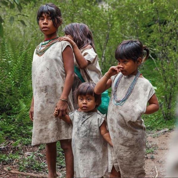 Niños Kogui. Ciudad Perdida Expotur. the Lost City Colombia