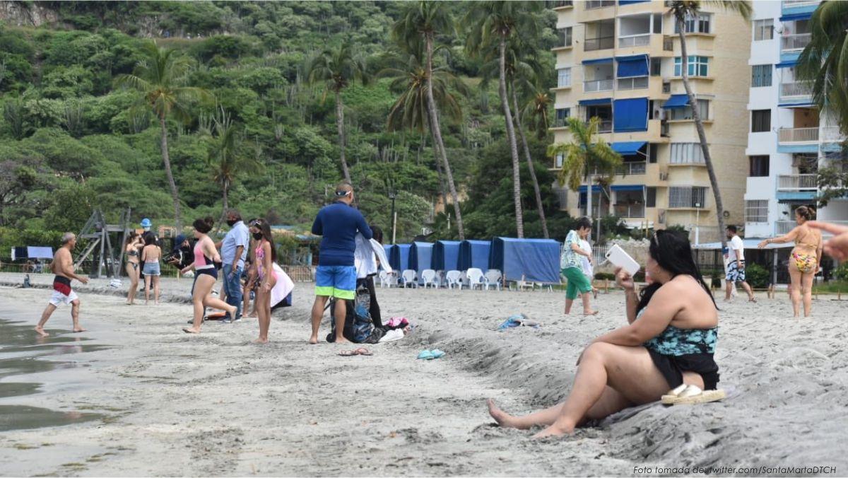 Ir a las playas en Santa Marta después de la cuarentena