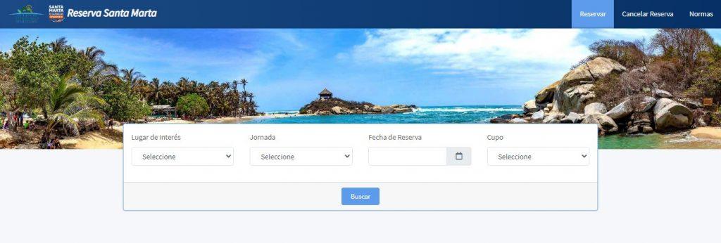 reservas para Ir a las playas en Santa Marta después de la cuarentena