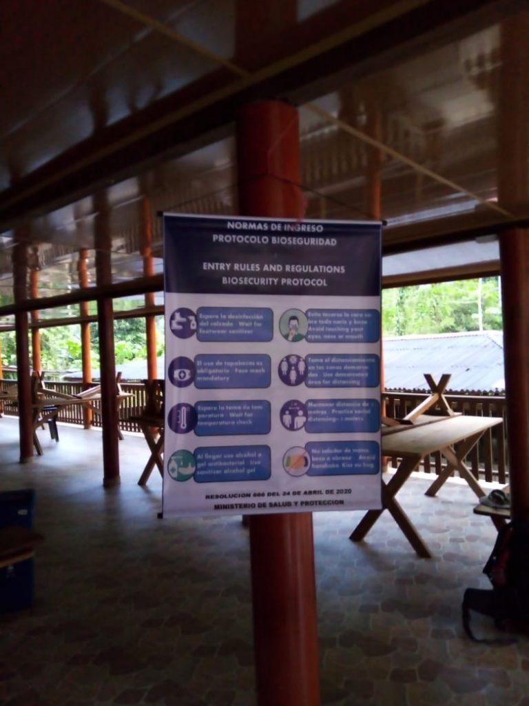 Normas de bioseguridad en los campamentos de Ciudad Perdida. Expotur